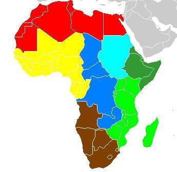 Mapa etnomusicólogo de África según Alan P.Merriam